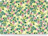 Rest Viscose Stoff , multicolor, Blumen, 60x150cm